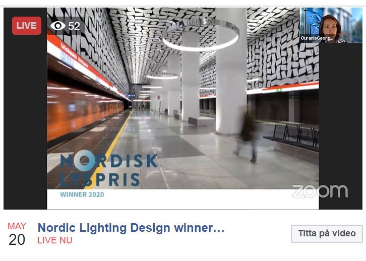 Nordic lighting design award 2020