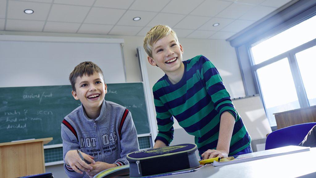 Glada barn i skolan