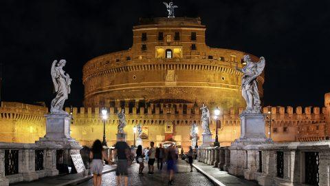 Rom i LED-ljus och natriumljus