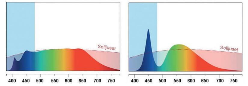 Sunlike jämfört med Standard LED